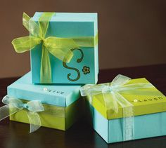 Monogrammed Favor Boxes, large Michael's