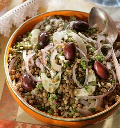 Ikaria Lentil Salad with Fennel, Onions, and Lots of Herbs
