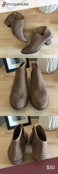 LUCKY BRAND Breeza Perforated Bootie in Dark Stone A Lucky Brand Shoes Ankle Boots & Booties