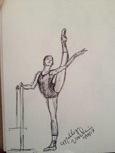 Dancer at the ballet barre. MGV Dancer at the ballet barre. Ballet Drawings, Dancing Drawings, Pencil Art Drawings, Easy Drawings, Drawing Sketches, Dancer Drawing, Painting & Drawing, Ballet Barre, Doodle Inspiration