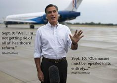 Uh-oh. Looks like Romney went off the script his puppet masters wrote for him and had to reverse himself ... again.