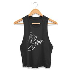 Selena Quintanilla Anything For Selena Reina De La Cumbia Singer Graphic Brand Name Womans Crop Tanktop Tee