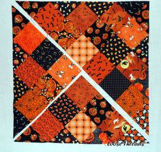 Loose Threads: From Squares To An On Point Quilt
