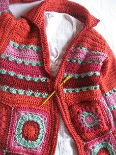 Crochet Cardigan + Diagrams Diy Crochet Cardigan, Crochet Coat, Crochet Jacket, Crochet Shawl, Crochet Clothes, Freeform Crochet, Tunisian Crochet, Crochet Granny, Crochet For Beginners Blanket