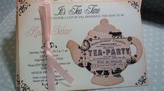 Tea Party Baby Shower Invitation  Vintage Elegant by ifiwerecards, $50.00