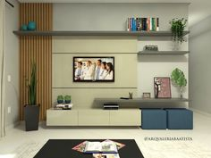 Tv Cabinet Design, Tv Panel, Tv Cabinets, Tv Unit, Drawing Room, Home Theater, My House, Curtains, Living Room