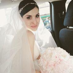 My beautiful bride wearing Petra Jannie Baltzer headpieces