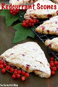 These Redcurrant Scones Recipe make a perfect breakfast, brunch, or an afternoon coffee break! They are so simple to make but delicious treat that is very much enjoyed by our family. Light, moist, and fluffy, every bite melt in your mouth. #redcurrantscones #homegrownredcurratnts #redcurrants #breakfastredcurrantscones #thefarmgirlblog | thefarmgirlblog.com