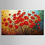 El-Boyalı Soyut Manzara Çiçek/Botanik Modern Tek Panelli Kanvas Hang-Boyalı Yağlıboya Resim For Ev dekorasyonu 2018 - $122.99