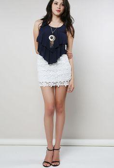 Crochet Lacy Skirt