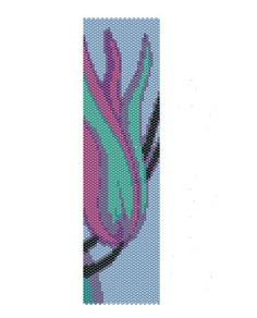Floral Peyote Pattern, blue and turquoise peyote cuff pattern (Buy 2 patterns, Get 1 Free). $5.00, via Etsy.