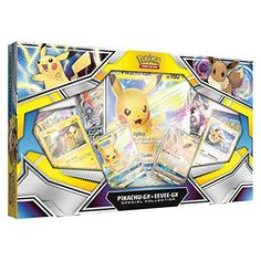 Pokemon TCG: Pikachu-GX & Eevee-GX Special Collection The Pokemon TCG: Pikachu-GX & Eevee-GX Special Collection includes. Pikachu Pikachu, Pokemon Sammelkarten, Cool Pokemon Cards, Rare Pokemon Cards, Pokemon Trading Card, Trading Cards, Detective, Brand Character, Friends Show