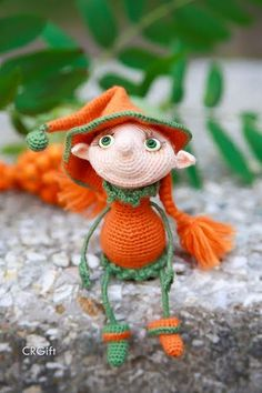 Crochet Elf / Amigurumi / Halloween / Crochet Elf Girl by CRGift