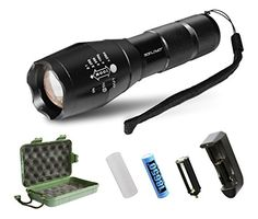 Brightest High Power Handheld Tactical LED Flashlight/Torchlight - Value-for-money high quality Ultra Bright LED Tactical Flashlight with high intensity brightness and range. This is the best flash...
