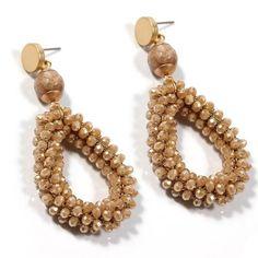 Bohemian Earrings Women Crystal Stone Beads Handmade Zinc Alloy Big Long Earrings Vintage Jewelry