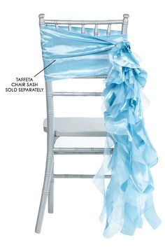 Curly Willow Chair Sash - Baby Blue (new design) ● As Low as $1.68 ● Available from www.cvlinens.com