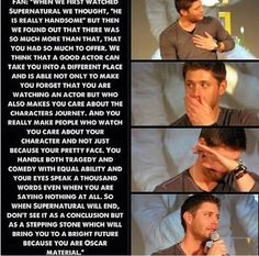A fan's (and, really, all of our) assessment of Jensen Ackles. There will never be another Dean Winchester. Supernatural Tattoo, Supernatural Imagines, Supernatural Destiel, Castiel, Supernatural Bloopers, Supernatural Wallpaper, Jensen Ackles, Danneel Ackles, Jared Padalecki