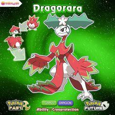Congrats, your Hatchagon has evolved into Dragorara, the Dragon Fruit Pkmon! Pokemon Dragon, Pokemon Fake, Pokemon Oc, Pokemon Pokedex, Pokemon Fan Art, Cute Pokemon, Pokemon Images, Pokemon Pictures, Pokemon Fusion