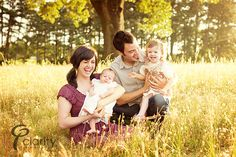 Inspire: Family Session by Clarity Photography on http://inspiremebaby.com     with all the prairie around here...sunset sitting in the grasses ...perfect