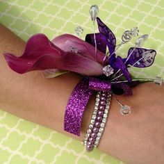 Bring out her inner Princess!  Floral Jewelry is Super Hot this Prom Season.  Flowers of Charlotte will design a one of a kind Corsage with all the bling to match your Prom dress!  Find us at www.flowersofcharlotte.com Wedding Crafts, Wedding Decorations, Princess Crafts, Daddy Daughter Dance, Prom Flowers, Corsage Wedding, Wrist Corsage, Flower Jewelry, Corsages