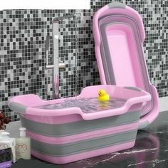 Dog Bath Tub, Puppy Room, Baby Tub, Puppy Supplies, Cool Baby Clothes, Designer Dog Clothes, Dog Rooms, Pink Dog, Shower Tub