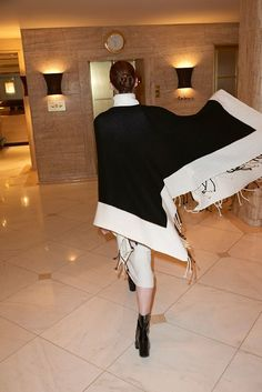 Philo-Sofie cape and dress & Aeyde boots Celine, Balenciaga, Fendi, Valentino, Saint Laurent, Fall Winter, Autumn, Fashion Editor, Bring It On