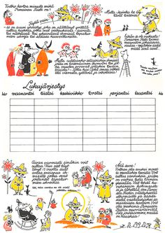 Archive Treasures: Tove Jansson for Red Cross - Moomin Tove Jansson, Moomin Wallpaper, Moomin Valley, Classroom Walls, Creative Teaching, Little My, Red Cross, Vintage Children, Line Drawing