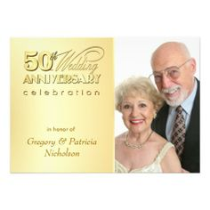Modern 50th Anniversary Party - Photo Invitations