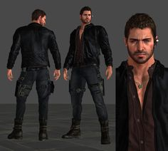 I edited his face, trying to make him look a little bit more realistic, I hope it looks fine. Anyone interested on this mesh mod ?P - Resident Evil Vendetta Chris Mesh-Mod Resident Evil Anime, Dino Crisis, Systems Art, Anime Dad, Jill Valentine, Post Apocalypse, Shadowrun, Best Games, Concept Art