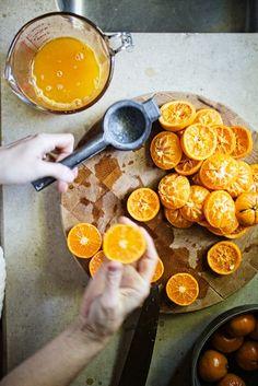 Tangerine Sorbet and Chevre Tart from Farmhouse Table