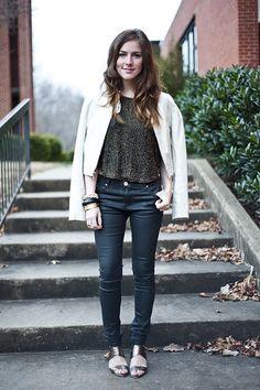 cute pants. I like where the shirt hits.