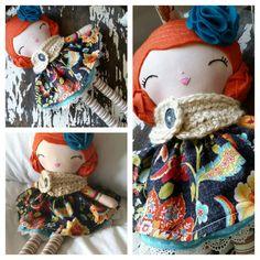 Vintage Inspired Rag Doll, SpunCandy Handmade Doll, Heirloom Quality Dolls, Bespoken Dolls, Custom Doll, Redheaded Doll, Doll With Red Hair   https://www.etsy.com/listing/245064788/vintage-inspired-rag-doll-spuncandy