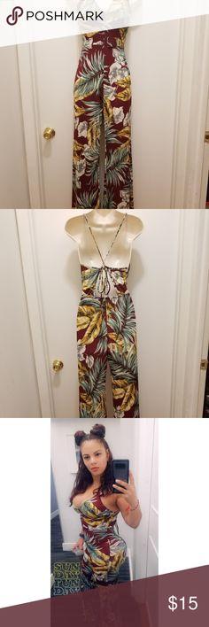 2b181a1c21f5 Palm leaf paradise fashion nova jumpsuit Palm leaf burgundy  fashionnova  jumpsuit. Worn once . Original price  34.99 . Price  15 .