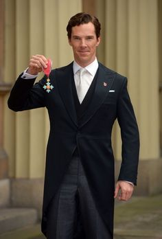 Benedict Cumberbatch after receiving the CBE (Commander of the Order of the British Empire) from Queen Elizabeth II for services to the performing arts and to charity during an Investiture Ceremony at Buckingham Palace on November 10, 2015 in London, England. (Nov. 9, 2015 - Source: WPA Pool/Getty Images Europe)}