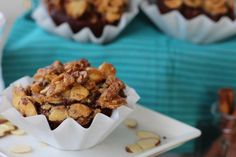 #paleo Chocolate Maple Crunch Muffins