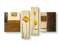 Tablouri canvas pictate manual 4 piese FLORI DA029E4 Interior Modern, Bookends, Manual, Artist, Architecture, Home Decor, Arquitetura, Decoration Home, Textbook