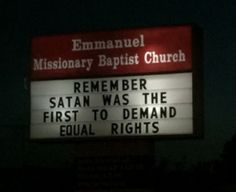 Meanwhile in Texas... can't tell if this is anti-equal rights or pro-Satan.