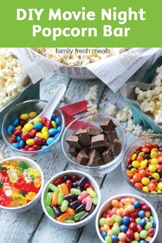 Love this DIY Movie Night Popcorn Bar! Love this DIY Movie Night Popcorn Bar! Get more photo about subject related with by looking at photos gallery at the bottom of this page. Backyard Movie Nights, Outdoor Movie Nights, Backyard Movie Party, Popcorn Bar, Movie Popcorn, Popcorn Snacks, Diy Snacks, Candy Popcorn, Butter Popcorn