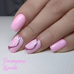 Elegant Nail Designs, Diy Nail Designs, Elegant Nails, Stylish Nails, Fancy Nails, Cute Nails, Pretty Nails, Gold Glitter Nails, Rhinestone Nails