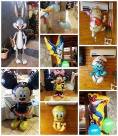 Baloane heliu desene animate  Baloane folie umflate cu heliu, personaje desene animate, mici sau mari. Pot fi folosite singure sau in buchete de baloane cu alte baloane cu heliu simple. Character