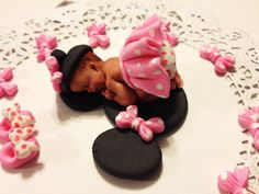 This is the cutest  light pink Minnie Mouse. Baby Shower, Birthdays, Baptism, Cake Topper, party
