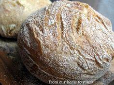 Receitas - From our home to yours - Português: No-Knead Bread - Pão Rústico (Não sovado)