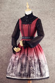 écailles De Lune -Forest Of Pipe Organ- Gothic Lolita Jumper Dress