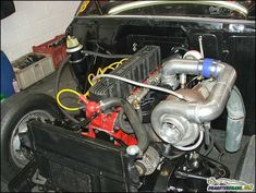 Tricked-out Chevy six cylinder engines - Something like 1000HP,