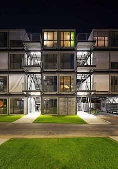 stellar container architecture - schools, student housing with libraries, hospitals, disaster housing