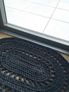 The Valencia Crochet Rug Pattern Advanced beginner/intermediate crochet skills needed Dimensions: 34 x 26 Please contact me with any questions or if you need help with the pattern! THIS IS ONLY A PATTERN. Find the completed rug here: Crochet Mat, Crochet Carpet, Crochet Mittens, Crochet Stitches Patterns, Crochet Pattern, Unique Crochet, Floor Patterns, Patterned Carpet, Rugs On Carpet
