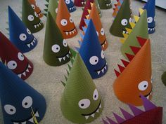 handmade dinosaur party hats! too cute for words!
