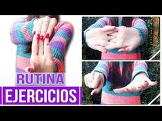 Nice Body, Fingerless Gloves, Arm Warmers, Youtube, Happy, Crochet Stitches, Stretch Routine, Stretches, Weaving