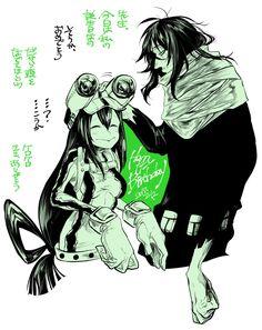 Boku no Hero Academia || Tsuyu Asui, Aizawa Shouta.