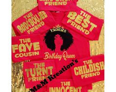Birthday Squad Shirt Queen Friend Party Womens Crew